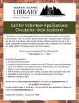Deadline to Apply for Volunteer Position (Circulation Desk)
