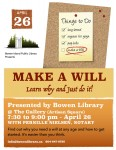 Make a Will program poster
