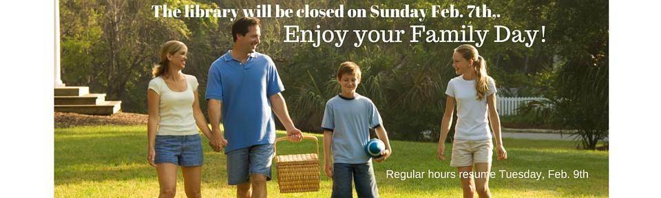 Family Day closure