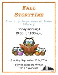 Fall storytime 2016-2