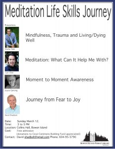 Meditation Life Skills Journey @ Collins Hall