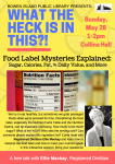 Food Labels Talk Poster