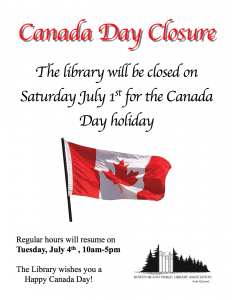Canada Day Closure