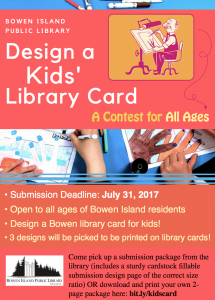 Design a Kids' Library Card Contest (Contest Deadline) @ Bowen Island Public Library