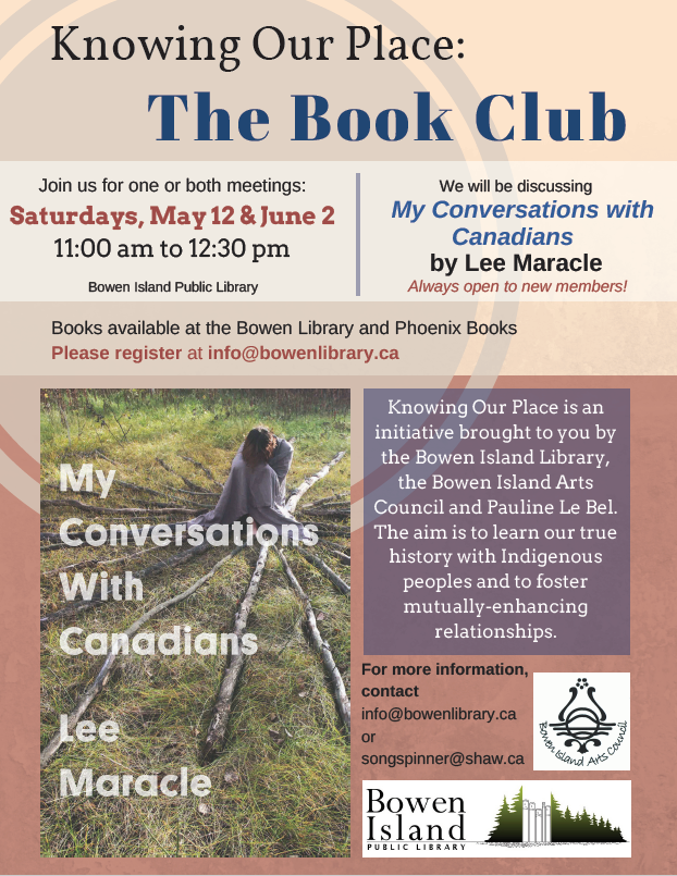 May 12, June 2 Book Club Poster Knowing Our Place PNG