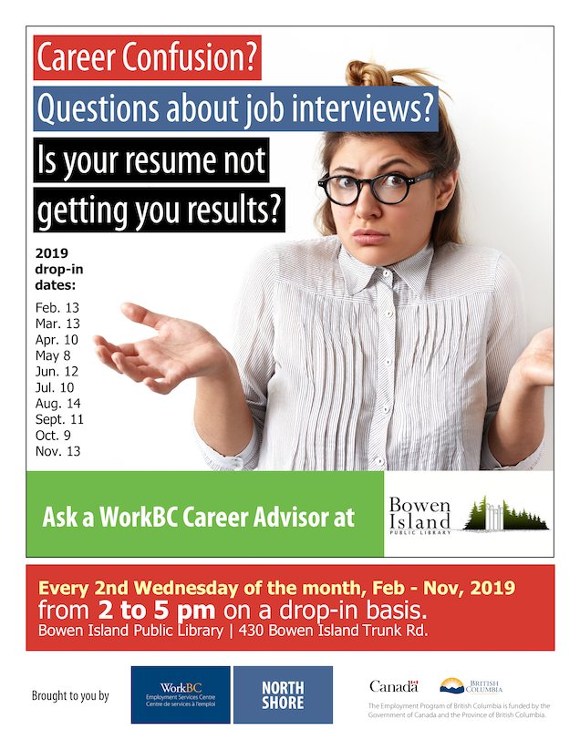 Ask a Career Advisor - Free career, resume and employment help @ Annie Laurie Wood Annex - Bowen Library