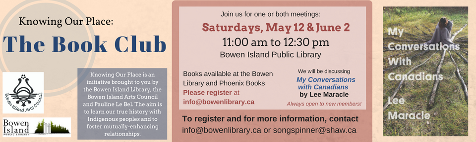 Slide May 12, June 2 Book Club Poster Knowing Our Place