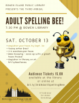 Adult Spelling Bee 2018 Poster