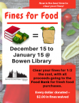 Fines for Food - Clear your fines for 1/2 the cost, with all proceeds to the Food Bank! @ Bowen Island Public Library