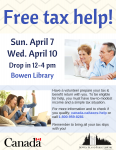 Tax Help Clinic @ Bowen Library - Annie Laurie Wood Annex