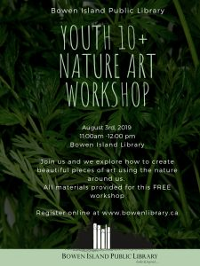 Youth Ages 10+ Nature Art Workshop @ Bowen Island Library