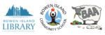 logos for Bowen Library, Bowen Island Community School, and Bowen Agriculture Alliance