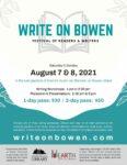 Write on Bowen: Festival of Readers and Writers @ van Berckel Gardens, Bowen Island