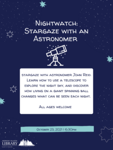 Nightwatch: Stargaze with an Astronomer Poster