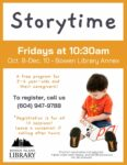 Storytime @ Bowen Library Annex